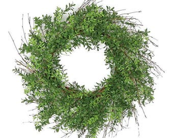 ESE BOXWOOD WREATH, 24""