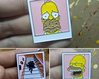 Homer polaroid Simpsons enamel pin badge set