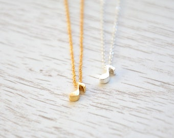 Music note necklace, Musician jewelry, Guitarist gift, Choir gift, Music gift, Artist gift, Fun necklace, Music lover gift, Classical music