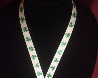St. Patricks Day Clover Lanyard Breakaway (Small)