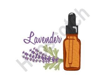 Lavender Oil - Machine Embroidery Design