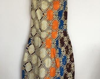 Gorgeous feminine playful African Print dress by njema Helena Kenya