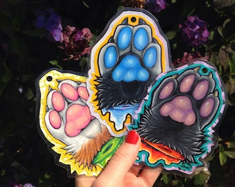 Custom Fursona Paw Badge