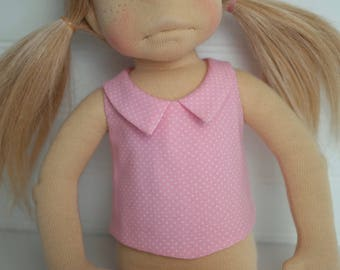 Pink Dot DOLL SHIRT with collar
