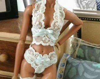 Lingerie set for 12 inch fashion doll Barbie size!