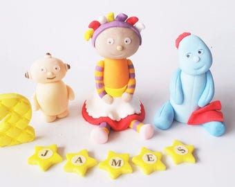 NIGHT GARDEN cake toppers edible  personalised decoration