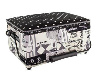 Handle Vintage metal sewing box