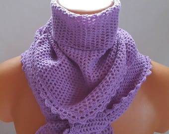Triangle Shawl  Crochet Scarf  Triangle Scarf Crochet Triangular Scarf