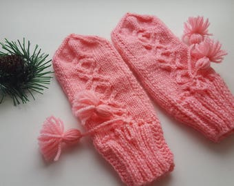 Knit mittens Mittens Hand wear Winter mittens Hand knit mittens Gift for mom Women's glover