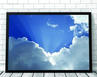 Clouds Art Print, Cloud, Clouds, Sky Print, Clouds Print, Nature Photography, Printable Digital Download, Photography