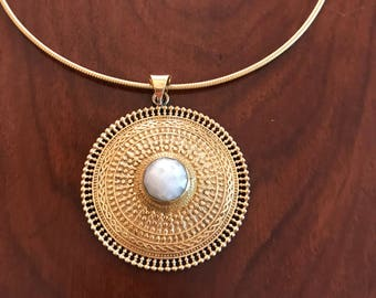 Genuine moonstone necklace,choker gold necklace, brass necklace, pendant gold necklace, gift for her, gift ideas, brass jewellery,boho gypsy