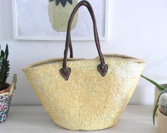 Large basket - Yellow Tote