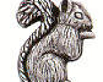 SQUIRREL Danforth pewter shank button