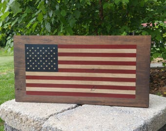 American Flag Wood Sign, Americana Decor, Patriotic Decor, Old Glory, Rustic, Distressed, Farmhouse, Primitive, Independence Day, July 4th