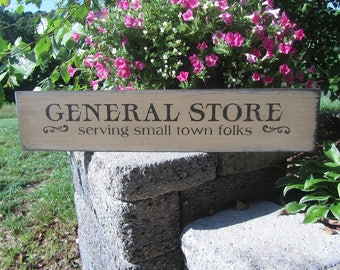 General Store Sign, Wood Sign, Old Store Sign, Rustic, Distressed, Farmhouse Decor, Antique Decor