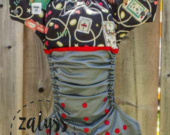 """Cloth Diaper """"Video Game"""" - Cloth Diaper with pocket"""