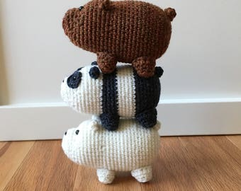 Small We Bare Bears Inspired Bear Stack