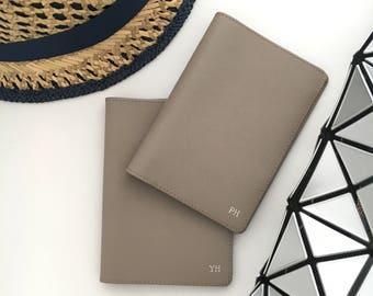 Passport Cover - Monogram Passport holder- Personalized Leather Passport Holder - Passport Cases - Passport Wallet - Wedding Gifts (Sahara)