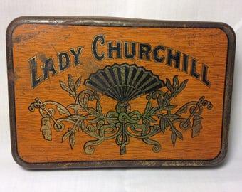 Vintage Lady Churchill Cigar Tin