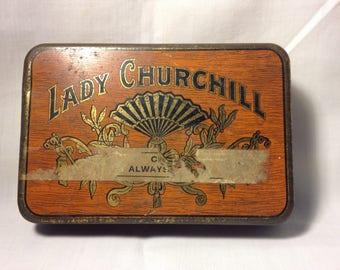 Lady Churchill Pocket Cigar Humidor