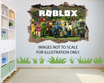 Roblox 3D Effect Graphic Wall Vinyl Sticker Decal