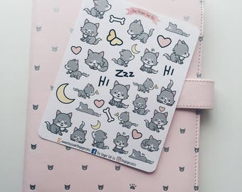 Cute Wolf Planner Stickers