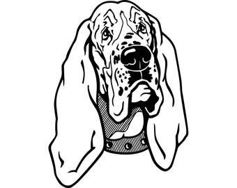 Basset Hound #10 Dog Breed Pedigree Canine K-9 Animal Pet Puppy Hunting Logo .SVG .EPS .PNG Digital Clipart Vector Cricut Cut Cutting File