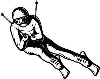 Snow Skier #1 Skiing Snowboarding Helmet Googles Mask Ski Winter Extreme Sport.SVG .EPS .PNG Digital Clipart Vector Cricut Cut Cutting File