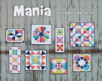 Mini Mania Quilt book, 8 mini quit patterns by Abby Lane Quilts