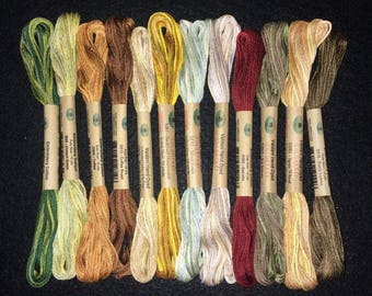 Valdani Country Lights set 2, hand dyed floss collection. 12 skeins,