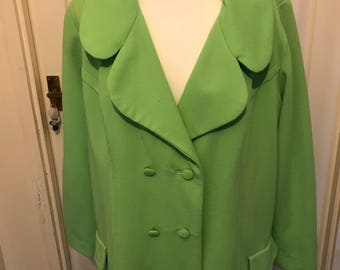 Ladies handmade double breasted coat 1960s