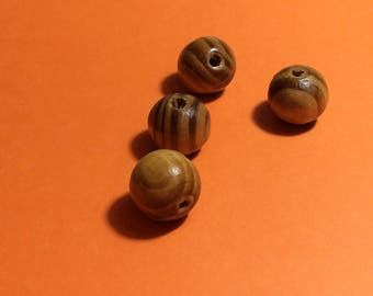 Wooden Beads. Burly Natural Wooden Beads 16mm x 12