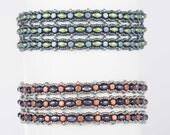 Mini Minos Bracelet Pattern using Minos and SuperDuo Beads - PDF Tutorial