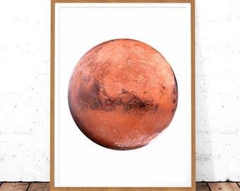 Mars Photography, Mars Poster, Mars Printable Mars Decor Mars Photo Art Decor Planet Poster, Planet Printable, Planet Print, Planet Wall Art