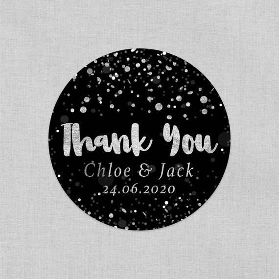 Personalized wedding thank you stickers, Custom wedding stickers and labels, Customized wedding favours for guests, Baby shower favours