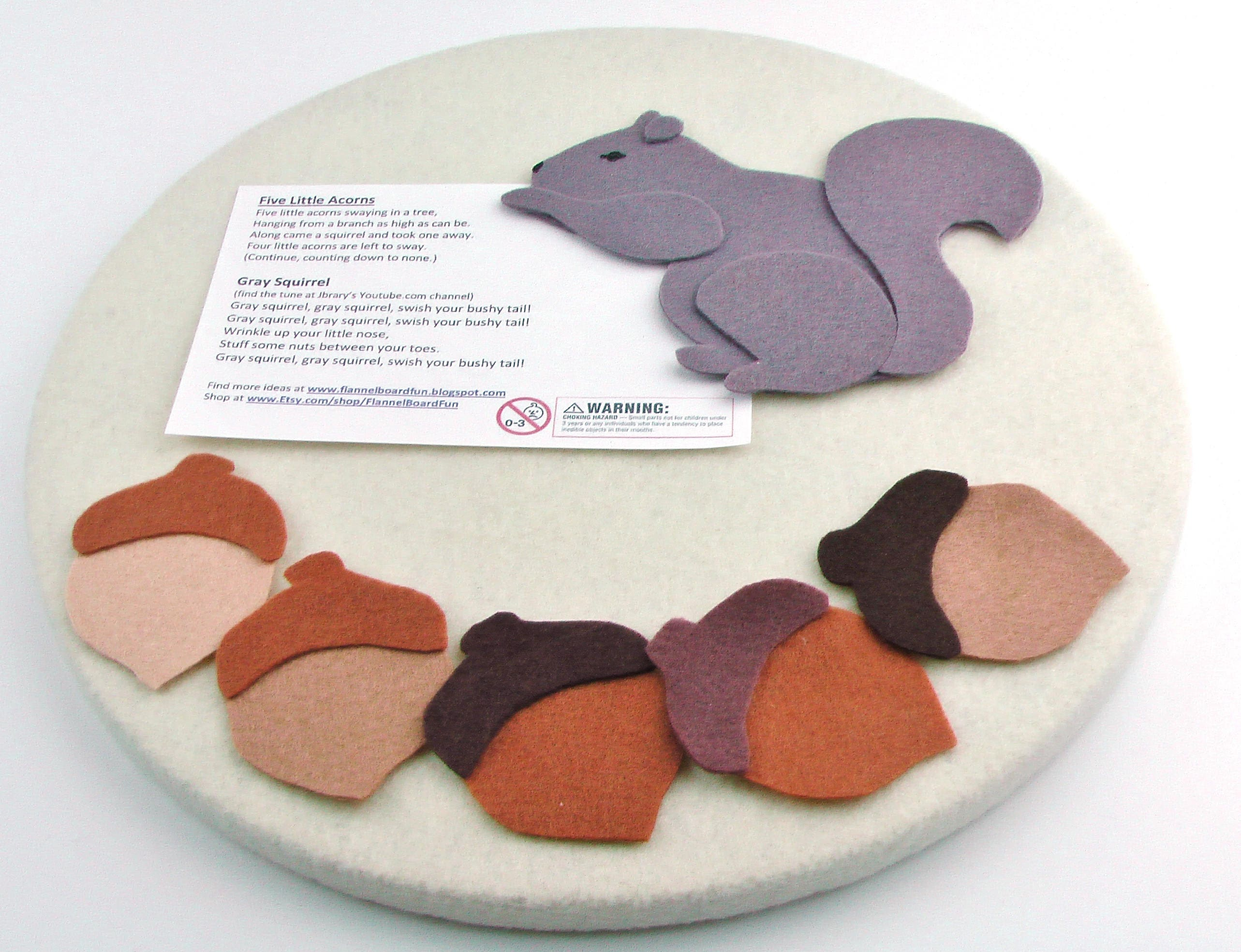 Wool felt squirrel and acorn felt board rhyme preschool for Felt storyboard templates