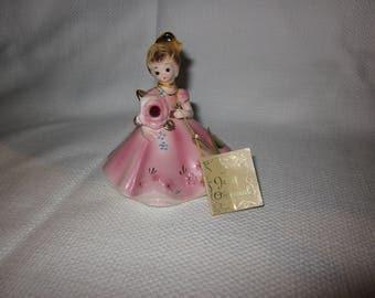 Vintage Josef original Lady Belle birthday figurine - January
