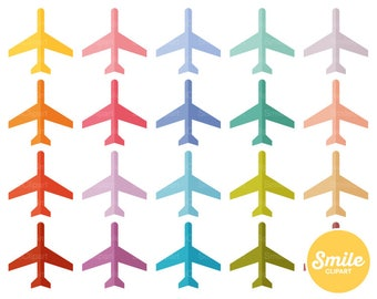 Airplane Clipart Illustration for Commercial Use | 0476