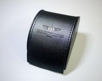BREITLING little leather box case ...to keep your Breitling watch nice and clean