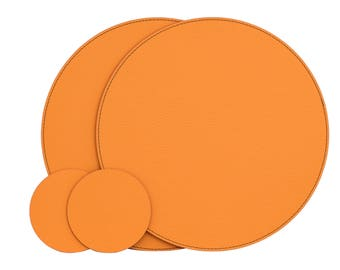 Orange Round Placemats Place Mats 1299 33 Cm Dining Set