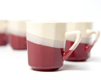 6 espresso cups, coffee cups set, ceramic coffee cups set, ceramic demitasse cups / ceramic espresso cup, demitasse cups, cups from 90's