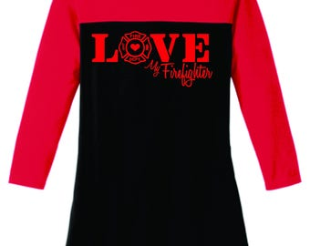Love My Firefighter Shirt-Firefighter shirt- Firefighter Gift