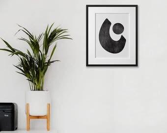 30x40cm Print • Illustration • Wall Art • Home Decor • Art Print • Abstract • Monochrome • EQUILIBRIUM 02