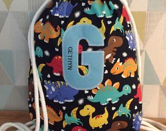 Personalised drawstring rucksack
