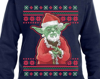 Yoda Sweater Ugly Christmas Sweater Santa Yoda Star Wars Sweater Star Wars Hoodie Yoda Shirt Christmas Yoda Merry Christmas TH414