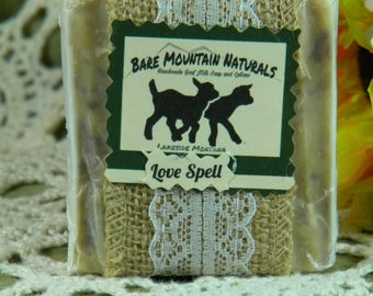 Love Spell fragrance All Natural Goat Milk Soap