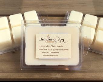 Lavender Chamomile Melts / Aromatherapy Wax Melts / Essential Oils / Lavender Melts / Chamomile Melts / Soy Wax Melts / Tarts / Spa Gift