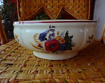 SARREGUEMINES - Salad bowl old collection AGRESTE - Vintage - FRANCE.