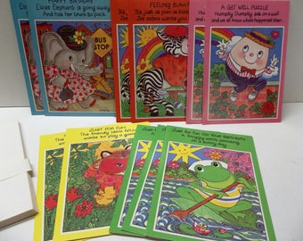 Vintage Childrens Cards Birthday Get Well Misc Lot Of 11