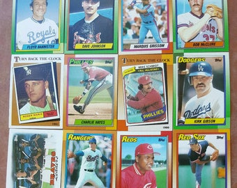 Lot 62 baseball cards mostly from the 1980s